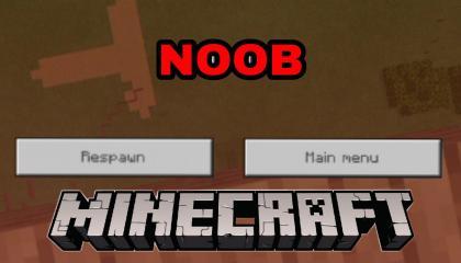 Noob Try Water Bucket Trick in Minecraft