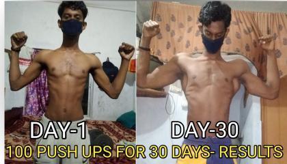 100 push ups for 30 days challenge (Honest Result) Epic transformation