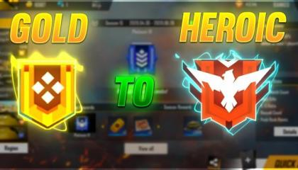 Gold to heroic🔥 (Free Fire)