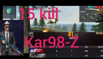 free fire kar98-Z 15kills
