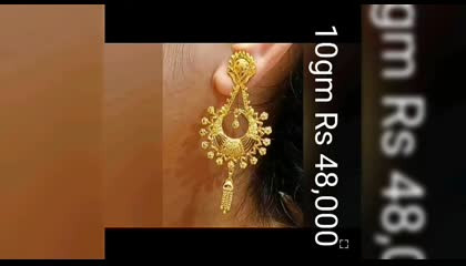 Beautiful gold earrings collection with weight and price don't miss it Please do follow and support my channel