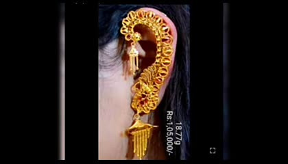 Latest beautiful gold earrings collection with weight and price don't miss it Please do follow and support my channel
