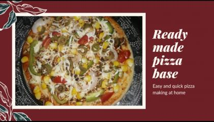 Pizza recipe  instant pizza recipe with readymade pizza base  eatfoodfeelgood by maha