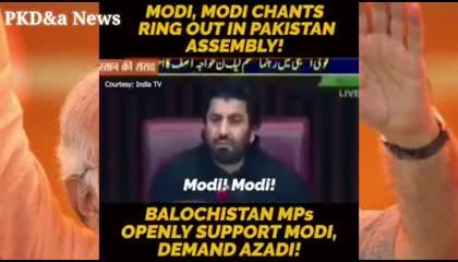 पाकिस्तान में मोदी के नारा संसद में