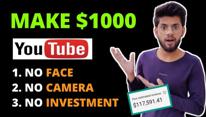 Earn $500 - $1000/Month From Youtube Without Making Videos (New Method)  Make Money Online In 2021