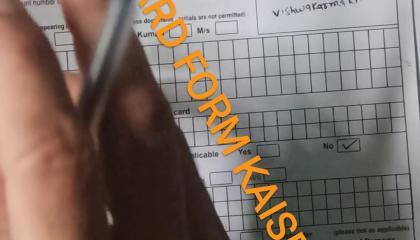 NEW PAN CARD FORM KAISE BHAEIN