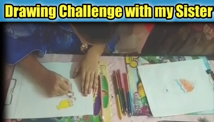 Drawing Challenge with my Sister  SLJ