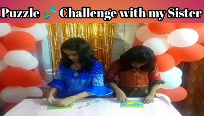 Puzzle Challenge with my Sister