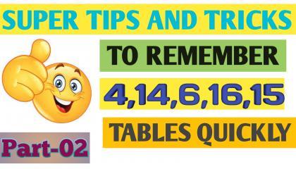 Multiplication table tricks  part 2