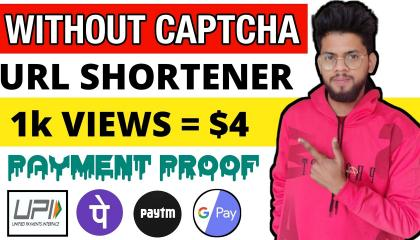 Without Captcha URL Shortener 2021  //  Highest paying link shortner //  Make Money Online