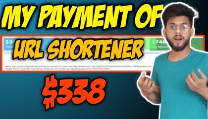 Payment Proof Of $388  //  Highest Paying URL Shortner Website // Make Money Online