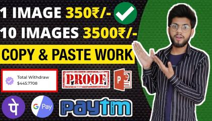 Earn 350₹ Per Image From Copy & Paste Work (New Trick 2021)  //  Make Money Online Home // Work From Home.