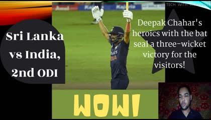 2st ODI Highlights  Sri Lanka vs India 2021 , MATCH IN SINGLE VIEW INDIA WON 3 WKTS