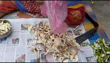 Rare forest mushroom Curry  How to prepare forest mushroom Curry.