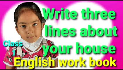 EnglishGrammer || Learn how to write about a topic || For kids of class - 1