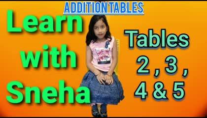 Mathematics AdditionTables  2, 3, 4 & 5