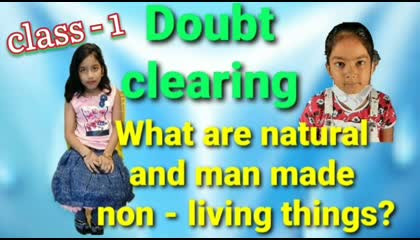 Man made and natural non - living things  Science of class - 1