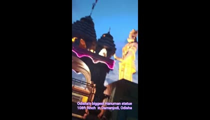 Tourist places in Odisha Biggest Hanuman statue at Damanjodi 108ft 9inch tall.