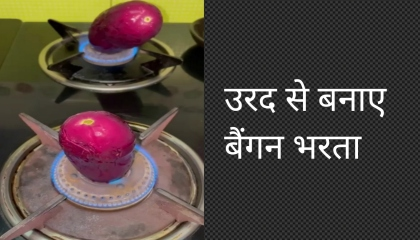 उरद से बनाए बैंगन भरता  Urad se banye Baingan bharta