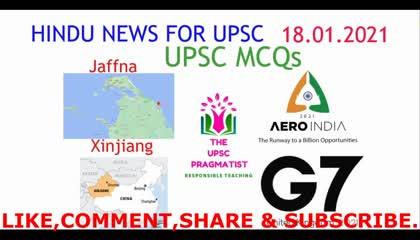 Hindu Analysis 18 Jan 2021