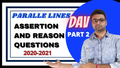 How to solve Assertion and Reason based Questions  Parallel Lines  Part 2