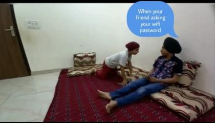 friend asking wifi password