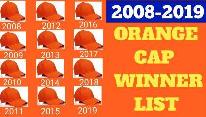 ORANGE CAP HOLDERS 2008-2020 IPL
