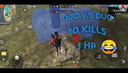 2 vs 2  Situation Free Fire 10 KILLS
