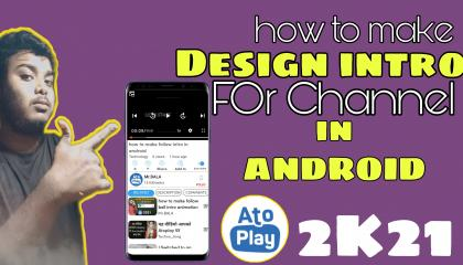 HOW TO MAKE DESIGN INTRO IN ANDROID