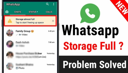 Whatsapp Storage Almost Full Problem Solved  Storage Space Free Kaise Kare