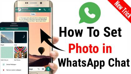How To Set Photo In WhatsApp chat