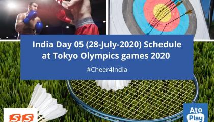 India 🇮🇳 day 05 (28-july-2021) schedule at Tokyo Olympics games 2020  S Sharma Channel 2.O  Tokyo Olympics