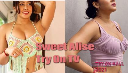 TRY on haul 2021@hot bikini 👙 try@hot beautiful girl@sweet Alise