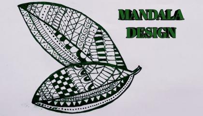 हरे रंग के जेल पेन का उपयोग करके एक सुंदर और अद्वितीय पत्ती मंडला डिज़ाइन कैसे बनाएं art's by divya