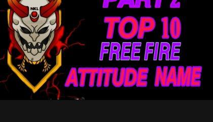 Free fire Top 10 Attitude name