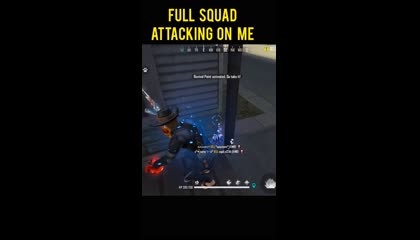 FULL SQUAD ATTACKING ON ME - GARENA FREE FIRE shorts