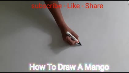 how to draw to a mango