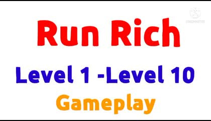 Run Rich 3D Gameplay(Level 1 -10)Not Commentary