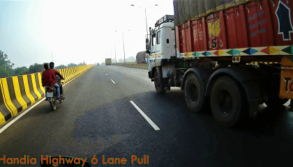 Prayagraj Handia Highway Allahabad to varanasi Root Amazing Seen in Highway, 6 लेन पुल के नजारे।