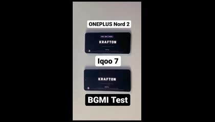 Oneplus Nord 2 VS Iqoo 7 Pubg test