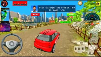 Countryside Taxi Driver Simulator  - Taxi Car Without Roof - Android Gameplay 2021