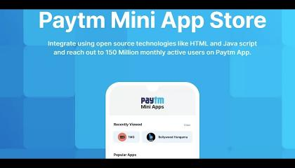 Paytm mini app store Launched in Indian