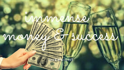 MONEY AND OVERNIGHT SUCCESS SUBLIMINAL-Powerful Money, Wealth Abundance! With 888z