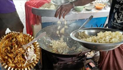 India's Cheapest Egg Chicken Pasta 35₹  Making Very Tasty Roadside Egg Chicken Pasta  Street Food