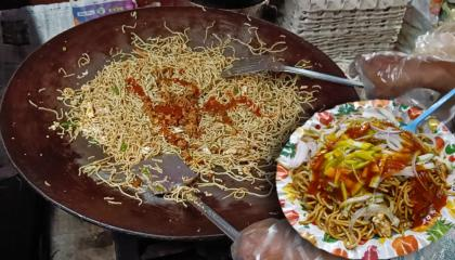 Desi Chinese  Mix Veg Egg Chicken Chowmein Rs50/-Only  Delicious Street Food  Indian Street Food