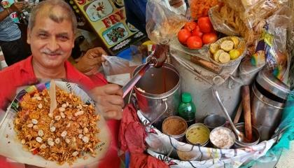 Hard Working Old Man Selling Bhel Muri  Jhal Muri  Street Food