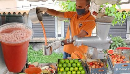 Healthy Mixed Fruit Juice  Best Refreshing Street Food  Street Food India  Healthy Summer Drink