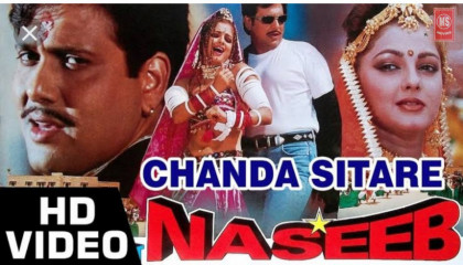 ChandaSitareBindiyaTumhari4KHDVideoSong-Naseeb(1998)AlkaYagnik