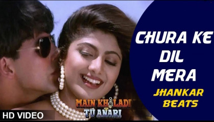 Chura Ke Dil Mera 4K Video Song  Kumar Sanu, Alka Yagnik  Akshay Kumar, Shilpa