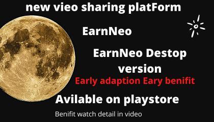EarnNeoNew video sharing platform,How to Earn money 💰 using-Neo, Best platform